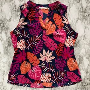 Violet & Claire flowy sleeveless top blouse 1187m